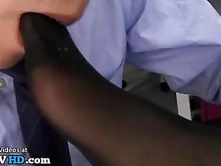 Jav female boss foot fetish obsession