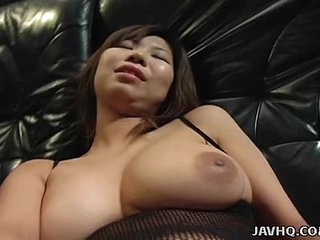 Big tits Asian babe toy inserting
