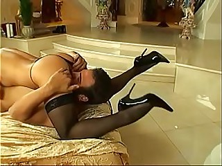 Sexy vixen in stockings Mya Luanna rides big cock by her asian pussy