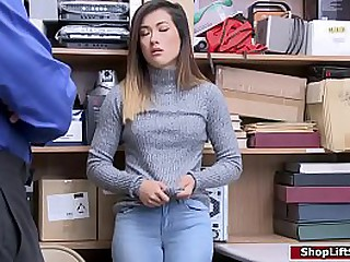 Asian thief gets fucked in officers office
