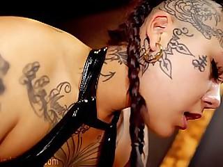 Asian Domintrix Makes Slave Eat Own Cum
