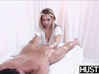Busty Asian massaged and banged hard