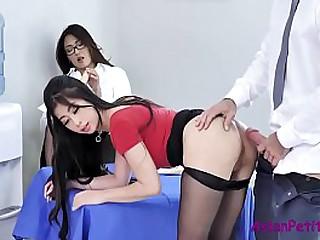 Office Fuck For Naughty Asian Sluts