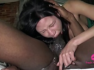 Slutty Asian Gagging to Death on BBC