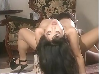 Asian lesbian Kamiko tastes and fingers wet twat of hot ebony chick