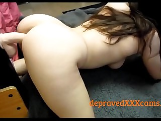 She cums on her dildo with a sucker - depravedxxxcams.com