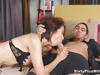 FFM 3some with two busty mature bitches