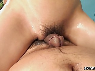 Skinny Asian idol and her partner enjoy sexy massage games