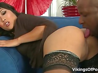 Mature Asian Yuki Mori Big Black Cock Fucking