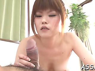 Delightsome japanese trio sex