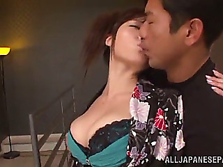 Anal sex with a breasty oriental honey